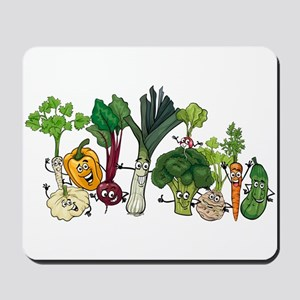 Funny cartoon vegetables Mousepad